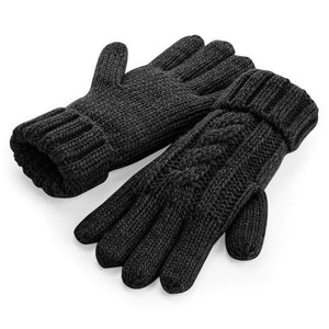 B497 Cable Knit Melange Gloves