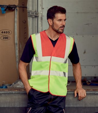 YK102 Hi-Vis Two Band and Braces Waistcoat