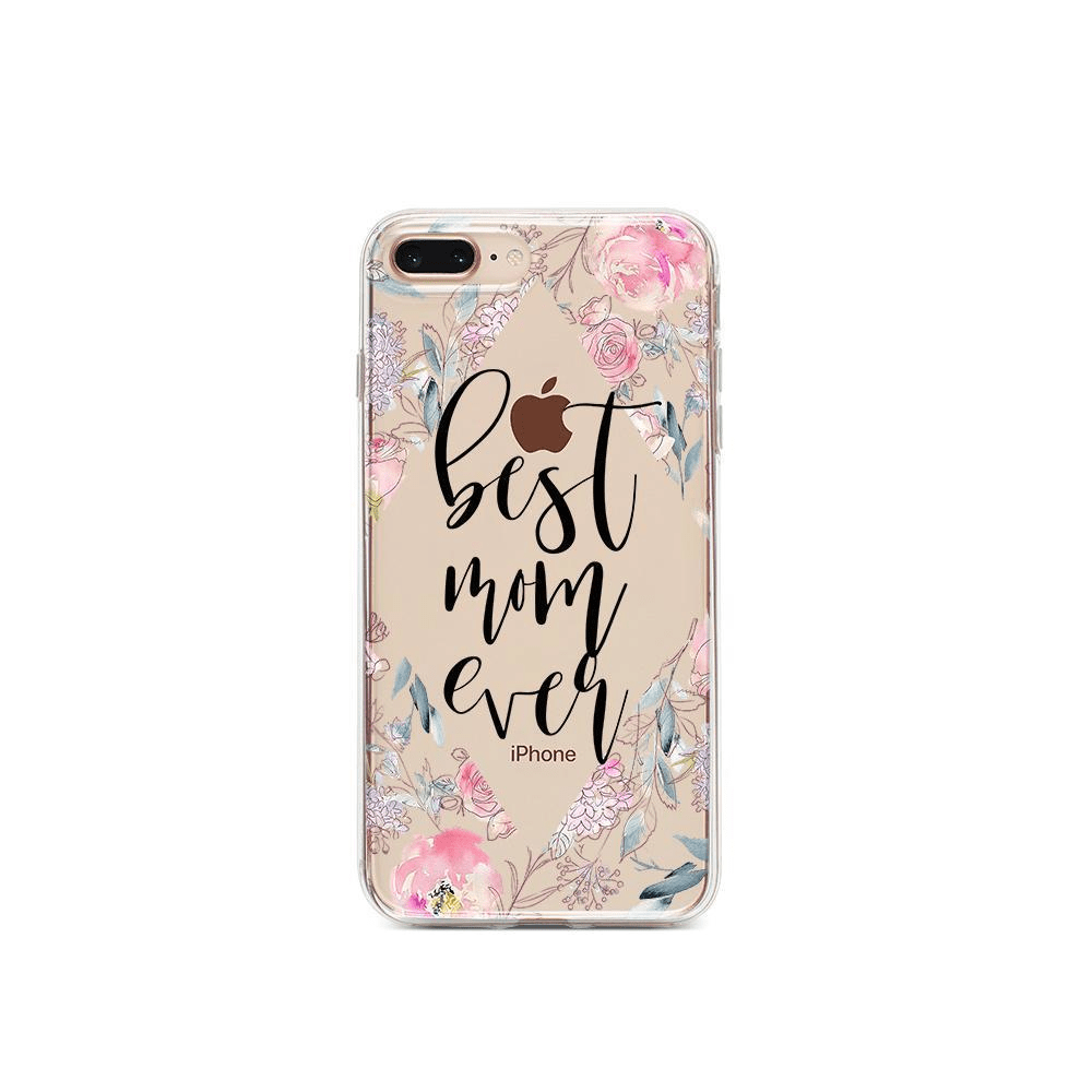 Best Mom Ever Floral - Clear TPU Case Cover - LoveLuve