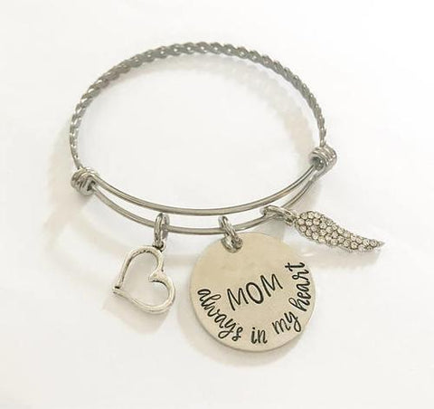Image of Memorial bracelet - Remembrance jewelry - Mom - LoveLuve
