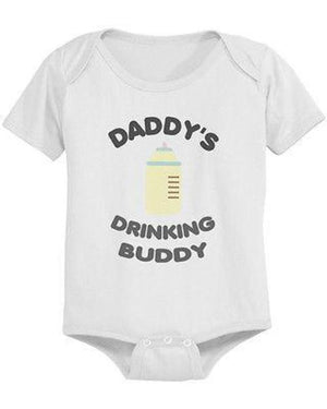 Daddy's Drinking Buddy Cute Baby Bodysuit - - LoveLuve