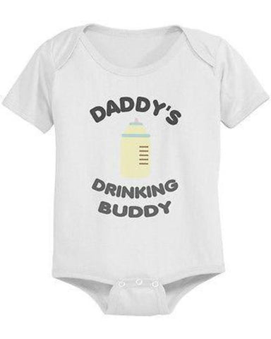 Image of Daddy's Drinking Buddy Cute Baby Bodysuit - - LoveLuve