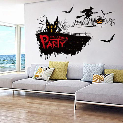 Image of 2018 Halloween Pumpkin Witch Wall Sticker Shop - LoveLuve