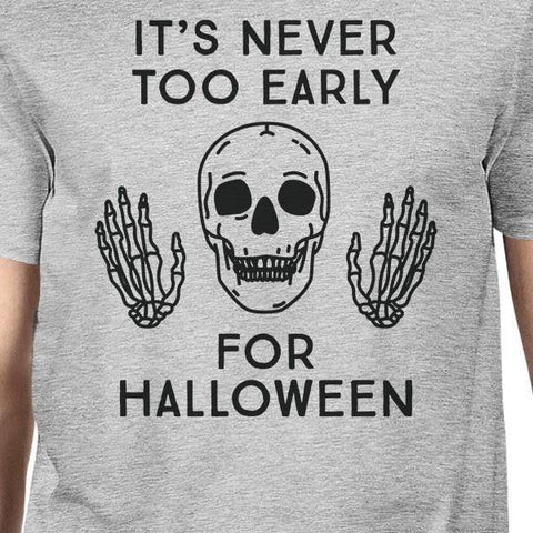 Image of It's Never Too Early For Halloween Mens Grey Shirt - LoveLuve