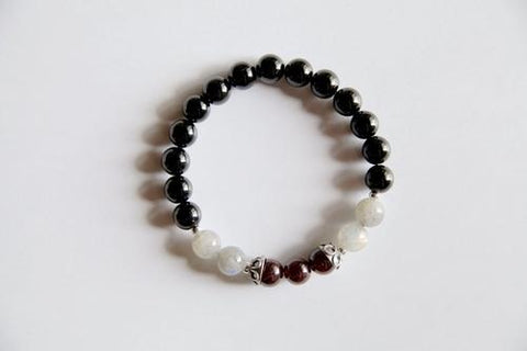 Image of Leo Sign ~ Genuine Black Onyx, Crystal Quartz & - LoveLuve