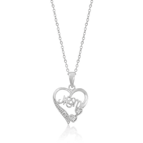 #1 Mom Heart Pendant - LoveLuve