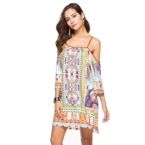 Image of Flowy Drop Shoulder Summer Dress - LoveLuve
