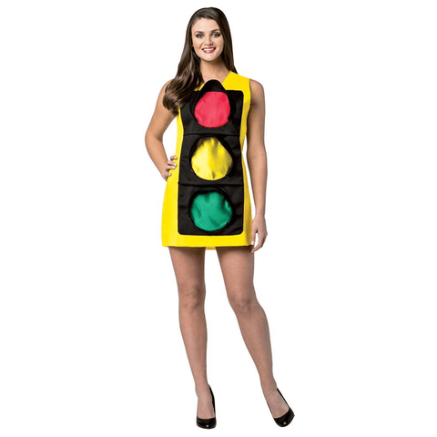 Image of Traffic Light Dress Adult Halloween Costume - LoveLuve