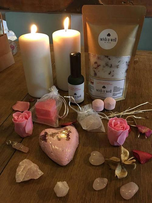 Bath salts,relaxation gift, Rose bath salts, self - LoveLuve