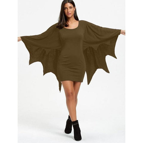 Image of Women's Bat Halloween Costume - Bat Animal Jumpsuit,plus Size S-5XL - LoveLuve