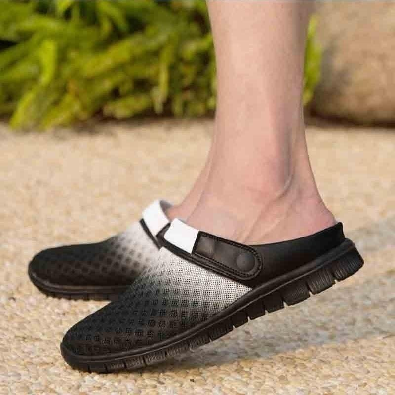 2018 New Fashion Summer Men And Women Slippers Flats Shoes Breathable Mesh Sandals Leisure Shoes Unisex Couples Casual Shoes - LoveLuve