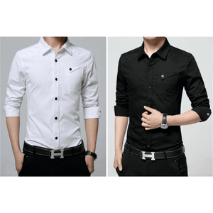 Mens Shirt with Flip Down Pocket