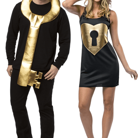 Image of Key To My Heart Couples Halloween Adult Costume - LoveLuve
