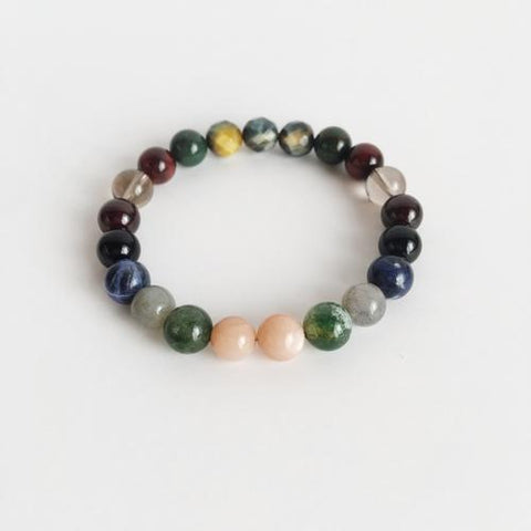 Image of Protection Mix ~ Genuine Gemstone Mix Bracelet - LoveLuve