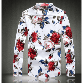 Mens Red Floral Shirt - LoveLuve