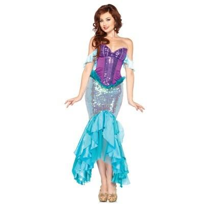 Image of Costume Adult Mermaid Princess Dress Sexy Strapless Dress Performance Costumes for Halloween - LoveLuve