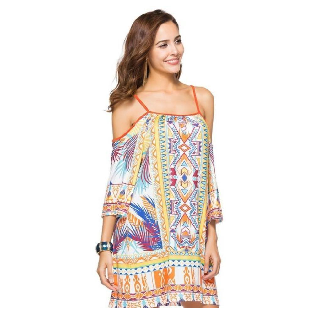 Flowy Drop Shoulder Summer Dress - LoveLuve