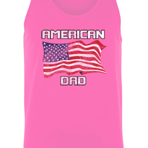 Image of Men's American Dad USA Flag Tank Top Shirt - LoveLuve