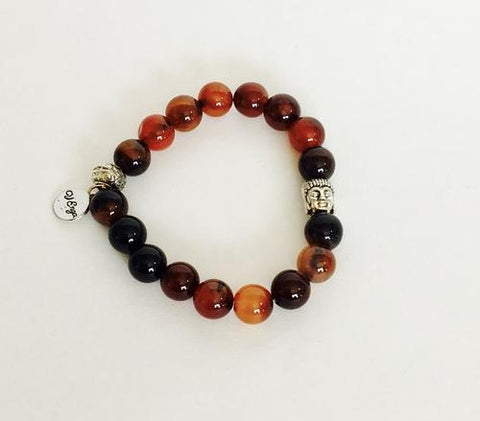 Image of Buddha Bracelet Natural Agate - LoveLuve