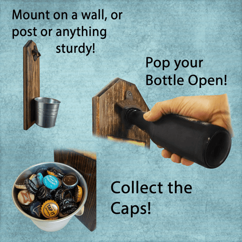 My Dad My Hero Bottle Opener and Cap Catcher, Wall Mounted - LoveLuve