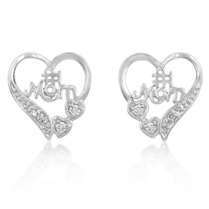 #1 Mom Heart Earrings - LoveLuve