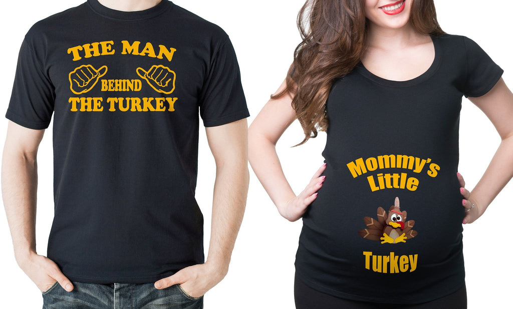 Thanksgiving Couple Maternity Shirts Pregnancy Turkey Tee shirt Thanksgiving shirts Maternity Pregnancy top