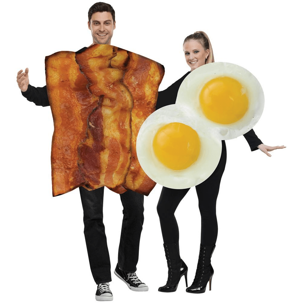 Bacon Eggs Adult Halloween Couples Costumes - LoveLuve