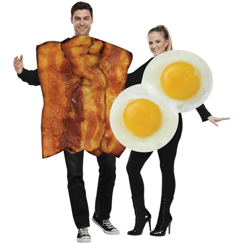 Image of Bacon Eggs Adult Halloween Couples Costumes - LoveLuve