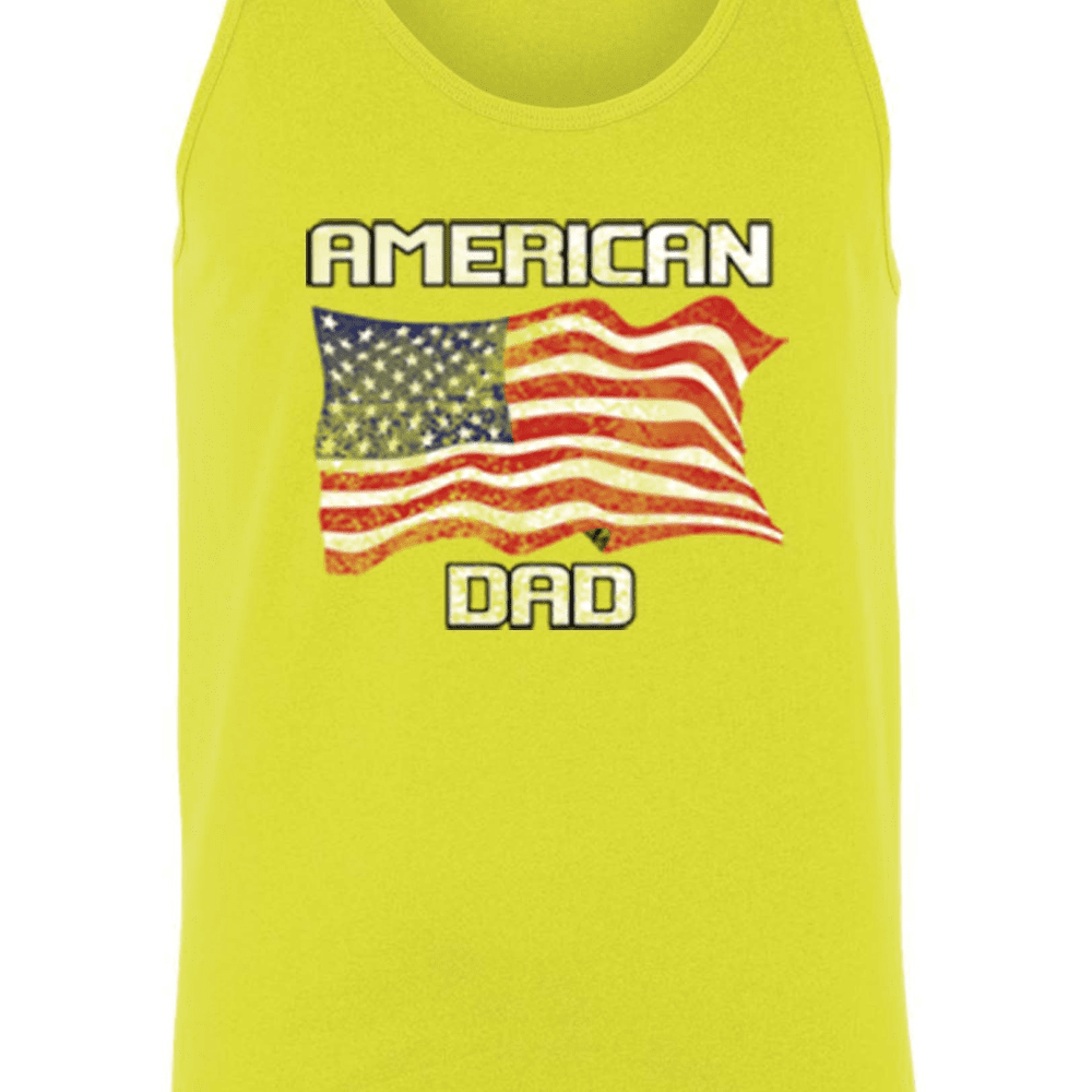 Men's American Dad USA Flag Tank Top Shirt - LoveLuve