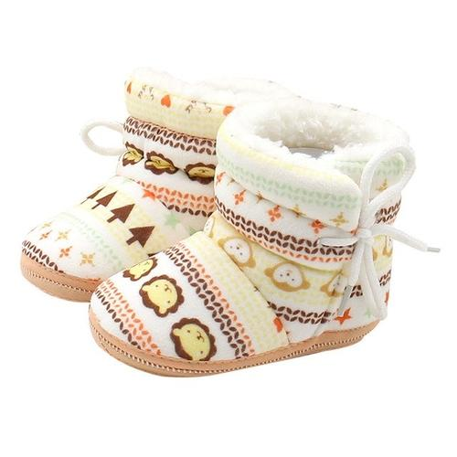 Baby Boots Plus Velvet Winter Warm Geometir - LoveLuve