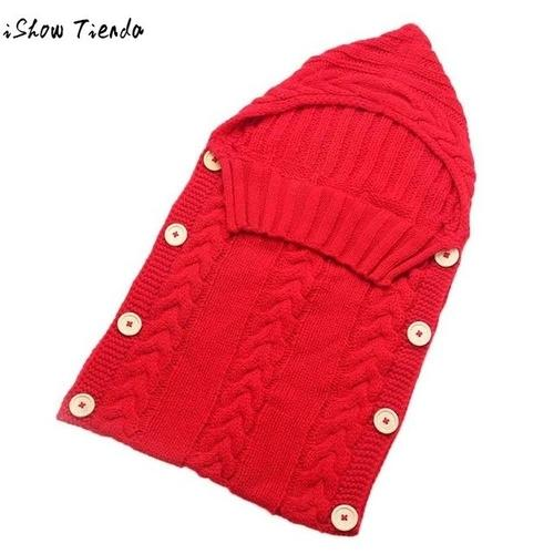 Baby Sleeping Bag Newborn Hood Button Knitting - LoveLuve