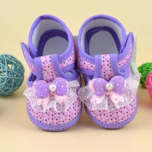 Cotton Shoes Baby Purple Floral Printing Baby - LoveLuve