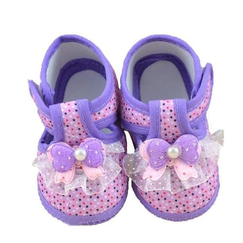 Image of Cotton Shoes Baby Purple Floral Printing Baby - LoveLuve