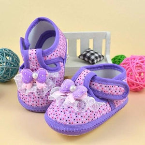Cotton Shoes Baby Purple Floral Printing Baby