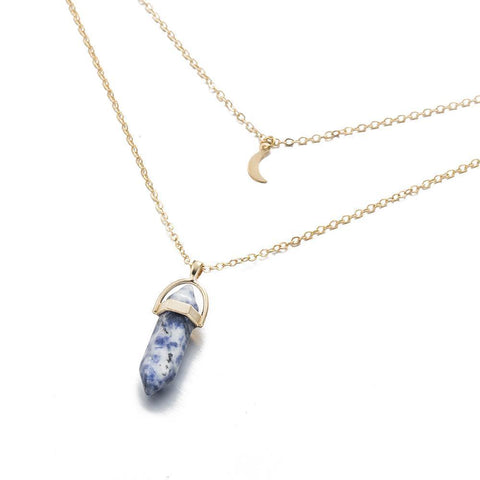 Image of Moon Child Crystal Necklace - LoveLuve