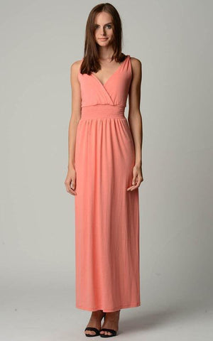 Image of Women's Smocked Wrap Maxi Dress
