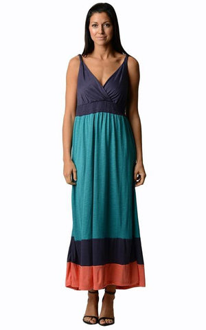 Image of Women's Colorblock Maxi Dress