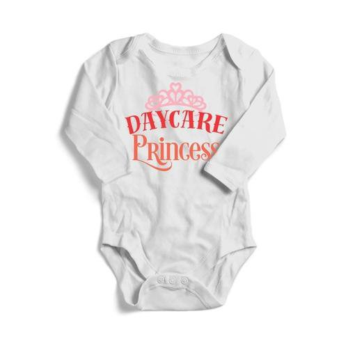 Daycare Princess Baby Long Sleeve Bodysuit - LoveLuve