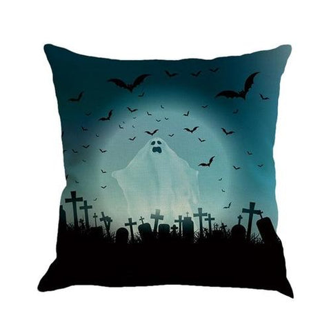 Image of Halloween Pillow Cover Linen Car Sofa Throw - LoveLuve