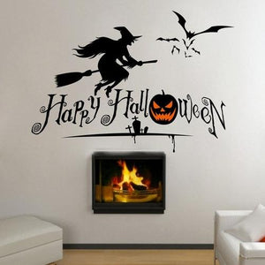 Halloween Series Witches Window Living Room