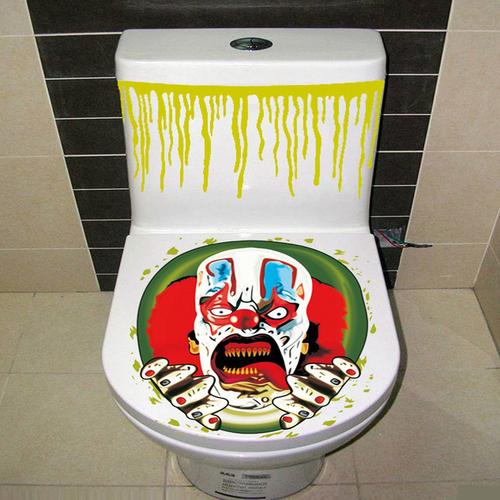 Halloween Toilet Cover Sticker 3D Scary Zombie - LoveLuve