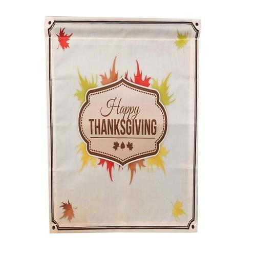 Happy Thanksgiving Garden Flags Polyester Home - LoveLuve
