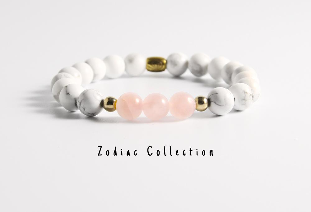 Natural Rose Quartz Beaded Bracelet - LoveLuve