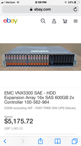 Image of EMC VNX5300 SAE HDD Expansion Array