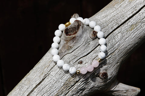 Image of Natural Rose Quartz Beaded Bracelet - LoveLuve
