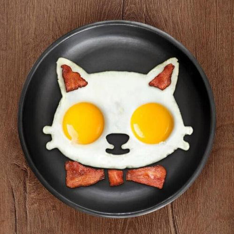 Image of Kitchen Silicone Cat Egg Shaper Cat Fried Eggs - LoveLuve