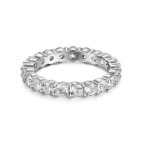 Sterling Silver Cubic Zirconia Love Eternity Band