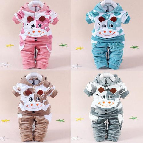 Image of Lovely Newborn Baby Girls Boys Cartoon style  Cow - LoveLuve