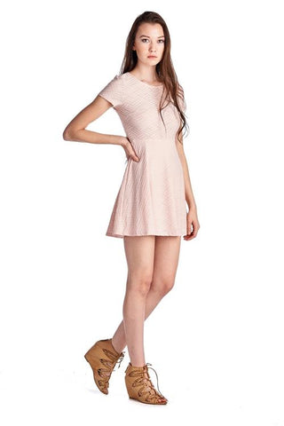 Image of Women's Textured Knit Skater Dress