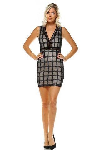 Women's V-neck Cut Out Dress